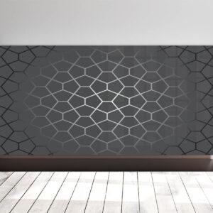 Printed glass radiator covers